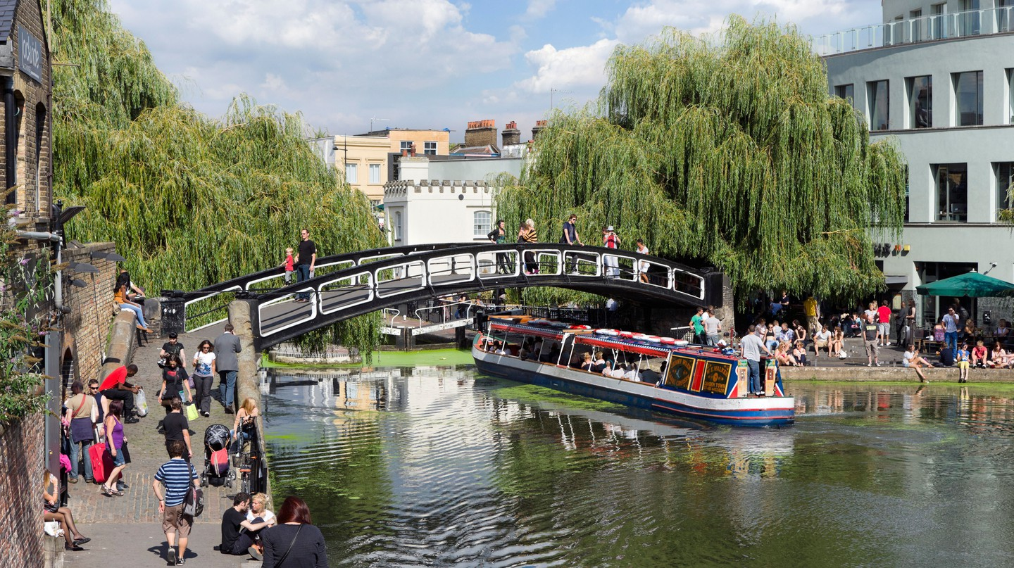 Take a stroll along Camden Lock during your stay in North London