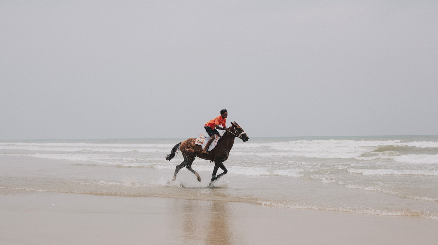 One of the most popular activities on Labadi Beach is horse riding along the shoreline