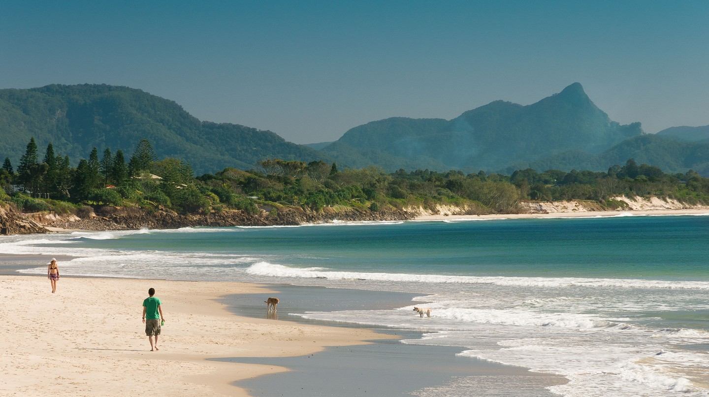 Byron Bay on the East Coast of Australia is known for its golden sands and reliable waves