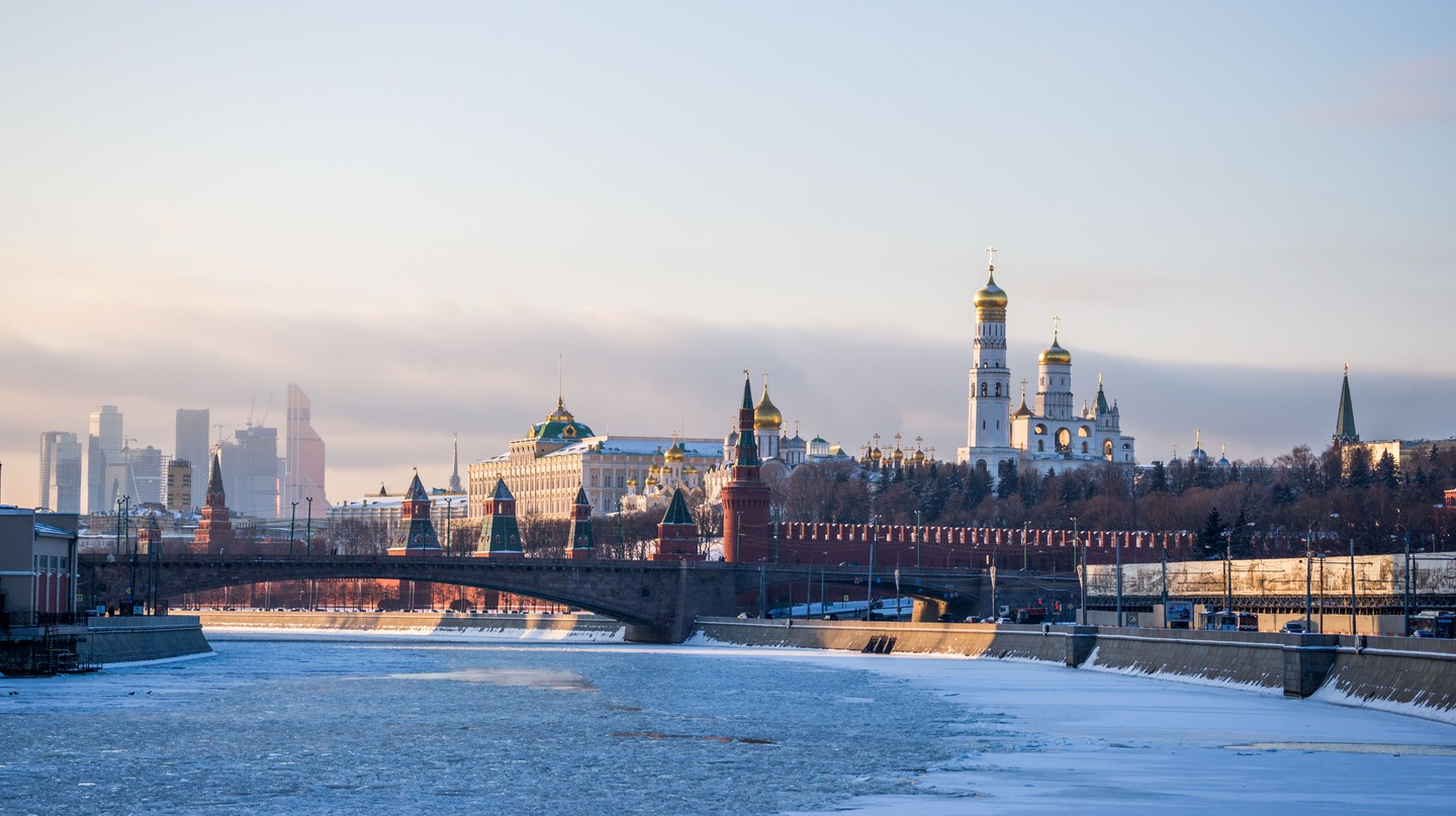 The Moskva River runs through the centre of the Russian capital and past the Kremlin