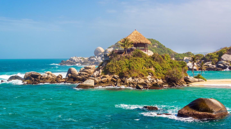Beach shack at Cabo San Juan del Guia, Tayrona National Park, Colombia