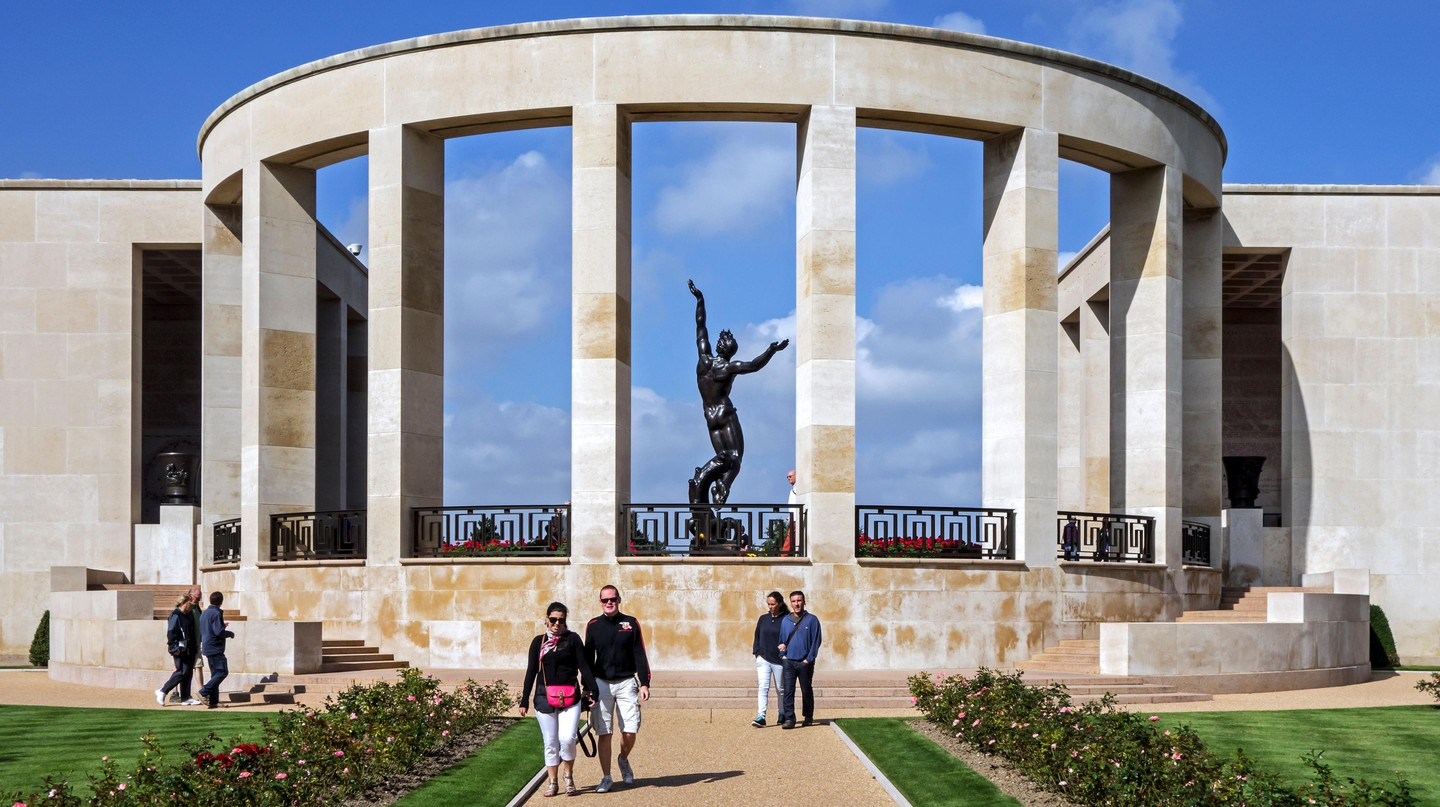 The Normandy American Cemetery and Memorial honours those who died on D-Day during World War II