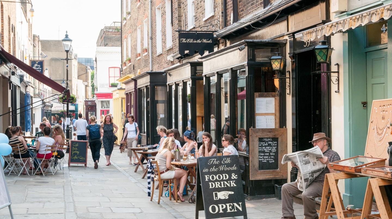 Islington streets like Camden Passage have a quaint, village vibe