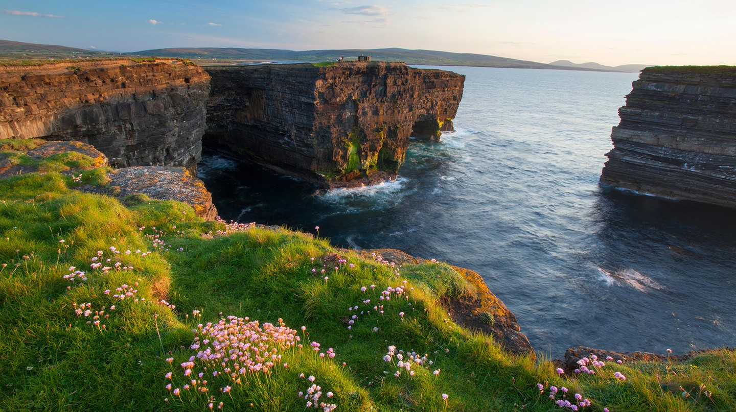 The Wild Atlantic Way, in Ireland, offers a dramatic coastline, as seen here in Co Mayo