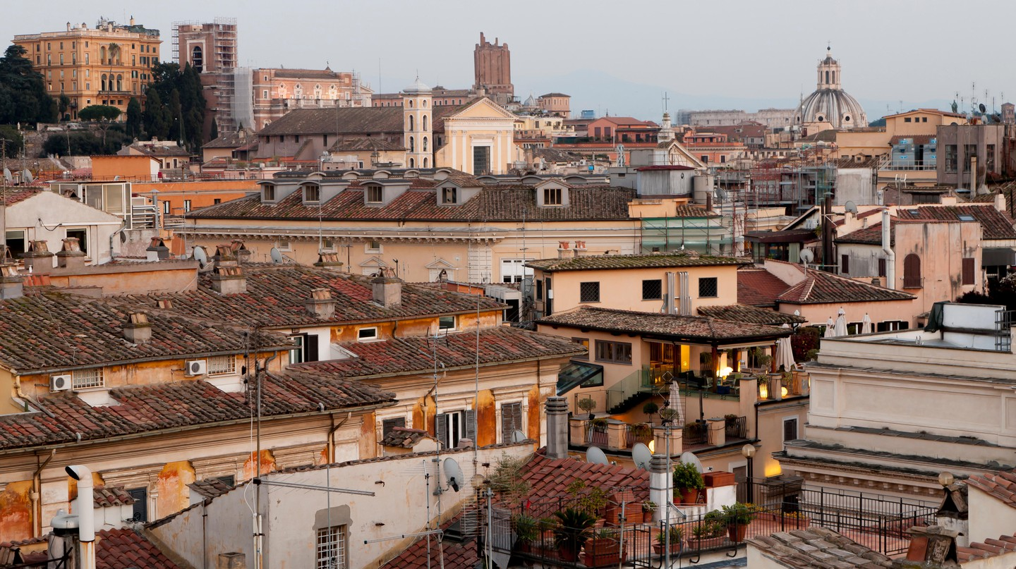 View over the rooftops of Rome, Italy