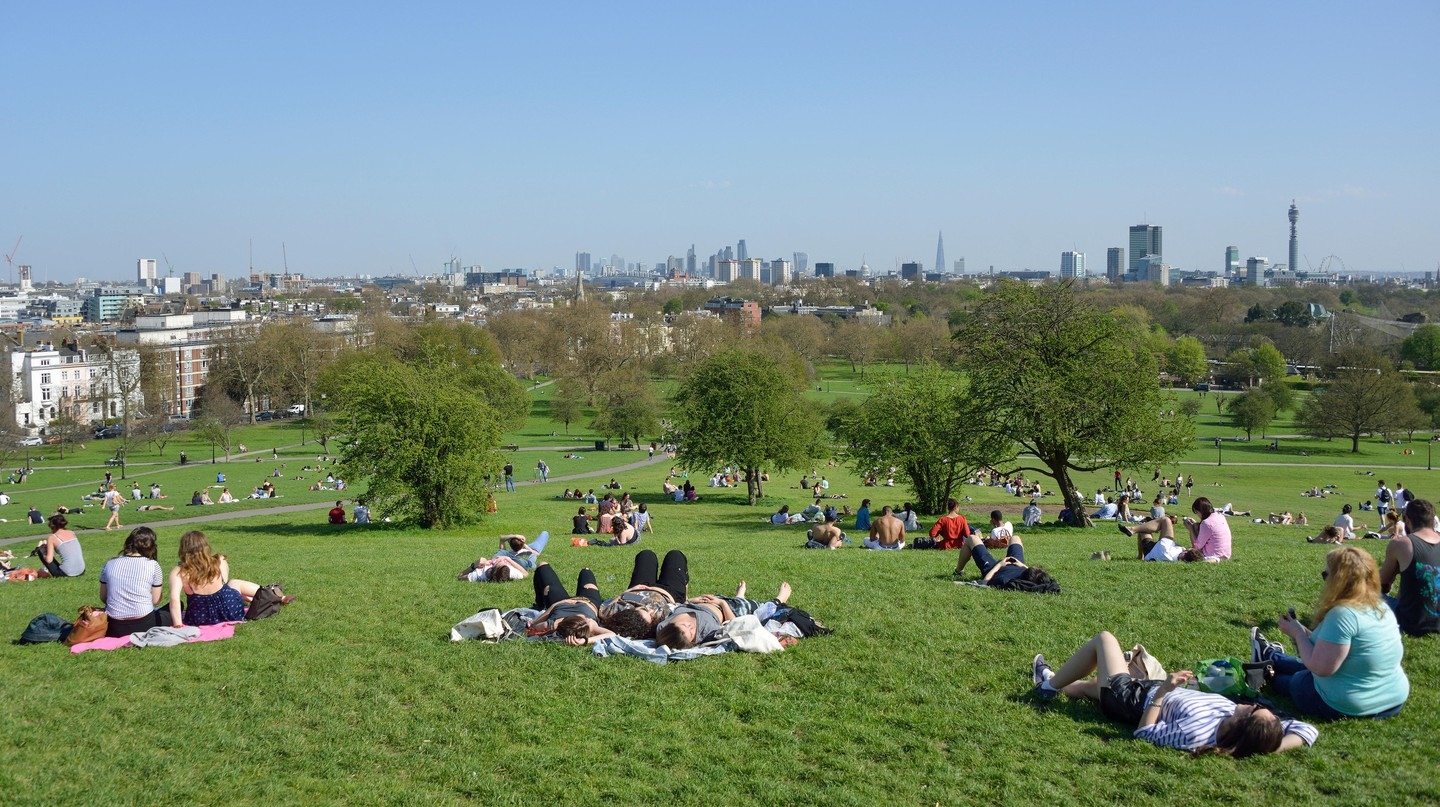 Get the best skyline view of Central London from Primrose Hill
