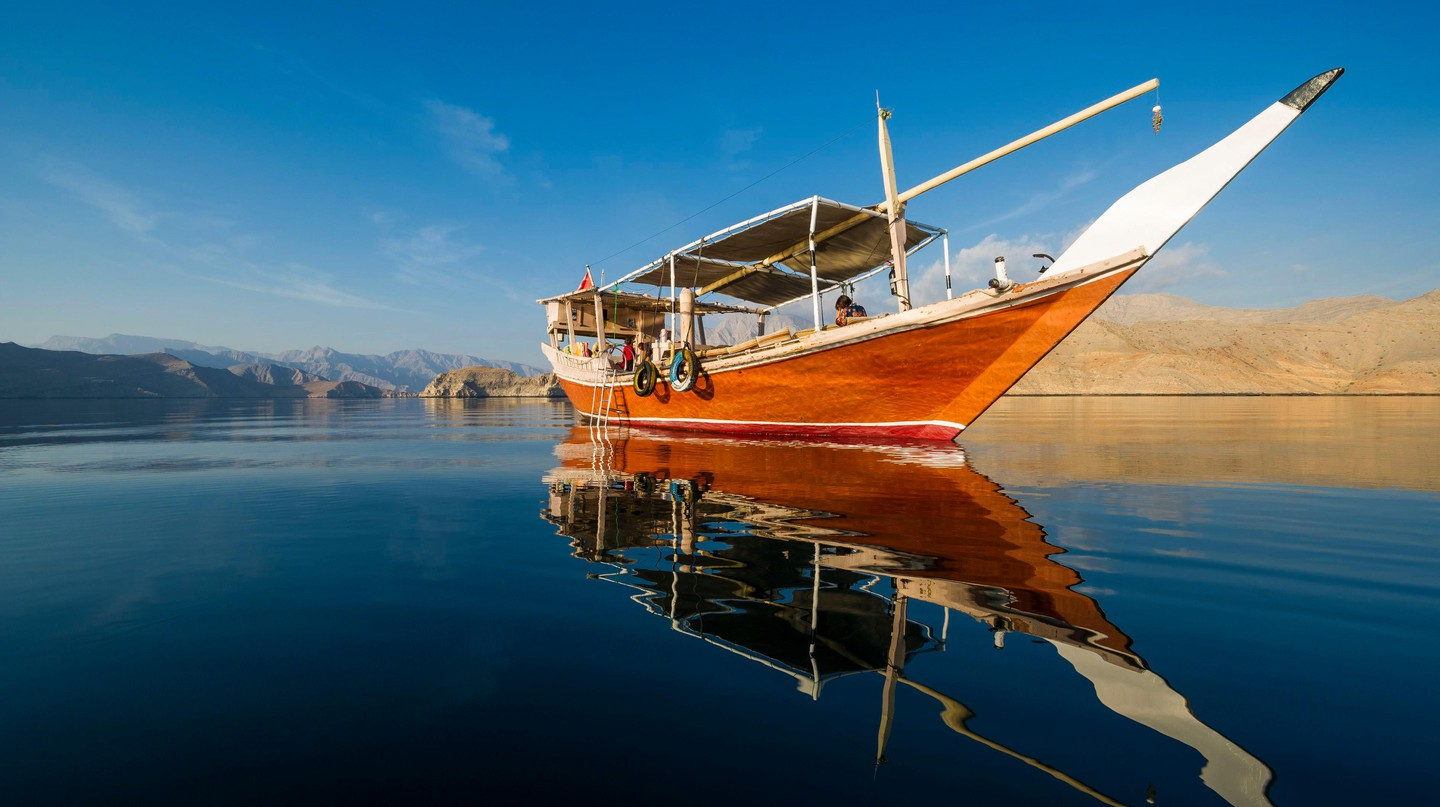 Take a cruise on a dhow, a traditional wooden ship