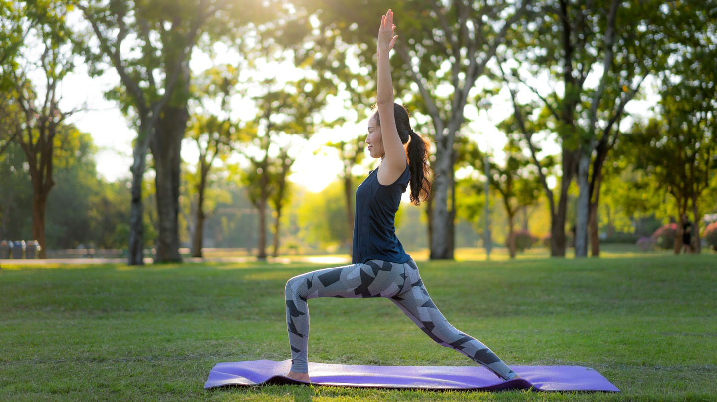 Try yoga at home for a holistic form of exercise