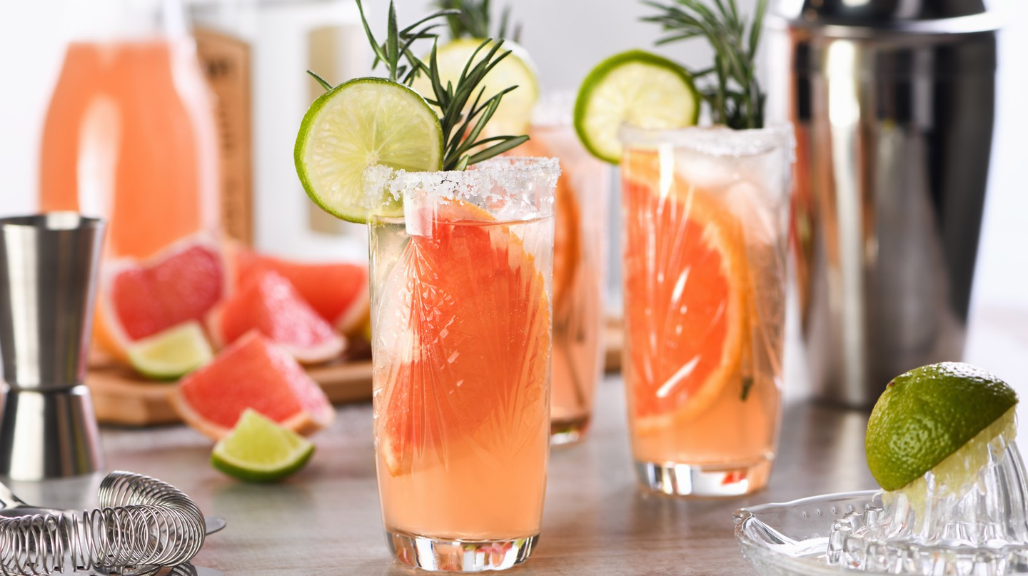 Learn how to make various cocktails, including a Paloma