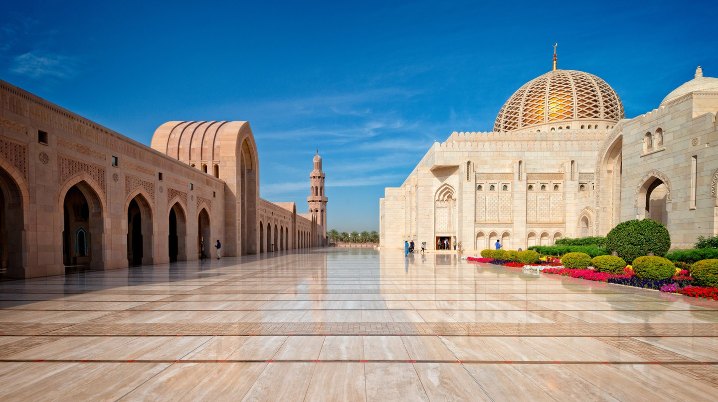 Sultan Qaboos Grand Mosque is Oman's largest and grandest mosque