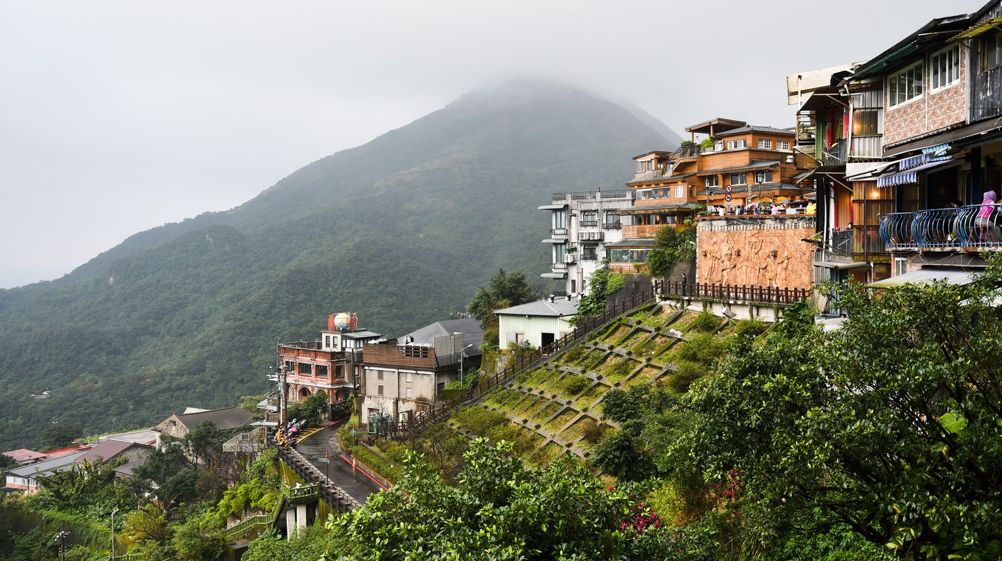 The Taiwanese town of Jiufen is said to have inspired the look and feel of 'Spirited Away'