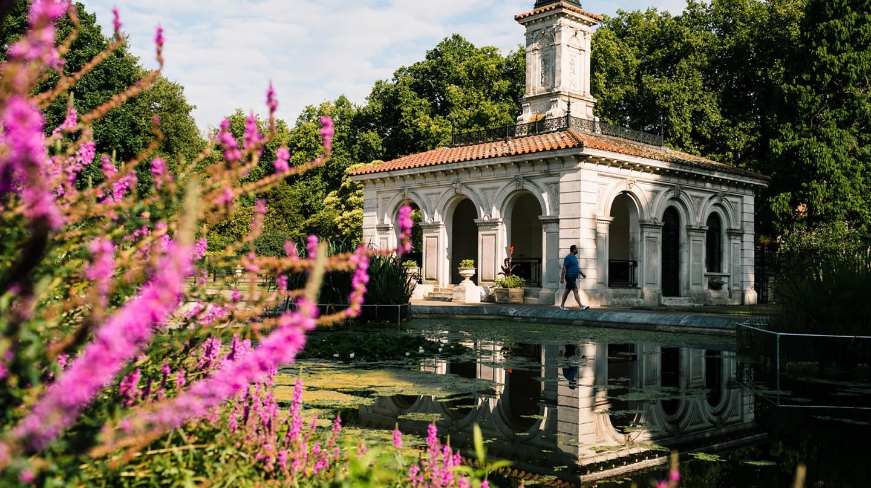 The Italian Gardens at Hyde Park, London, England