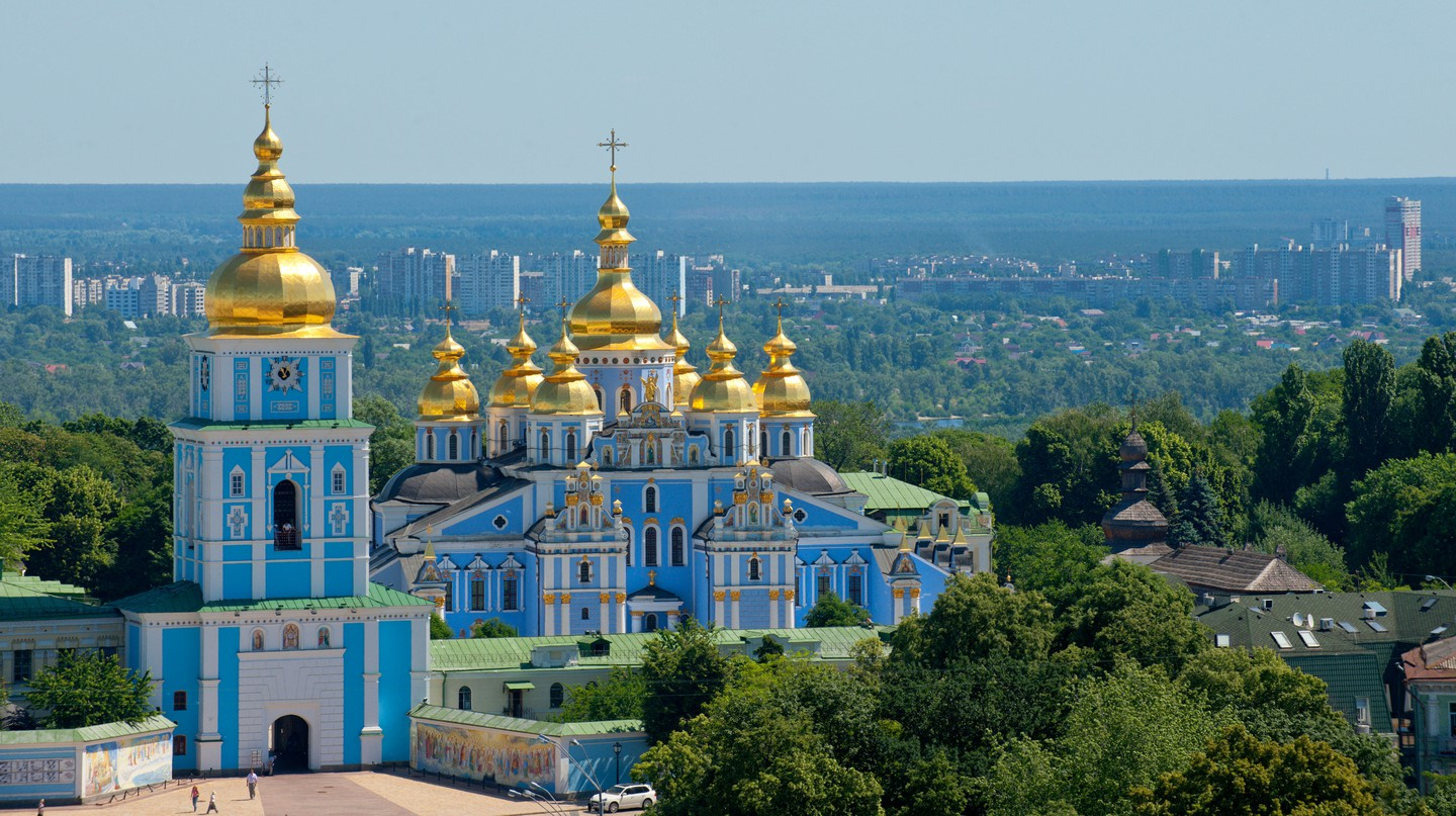 Marvel at the architecture of the numerous onion-domed churches in Kyiv, like that of St Michael
