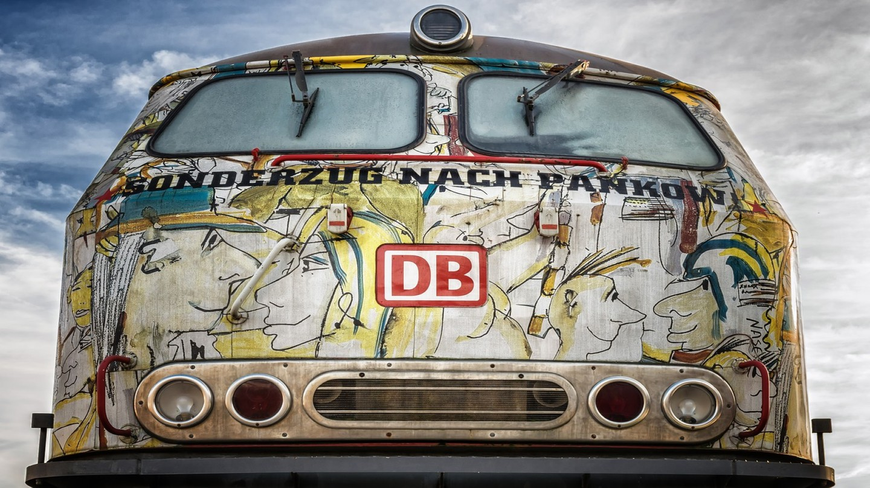 A Deutsche Bahn train