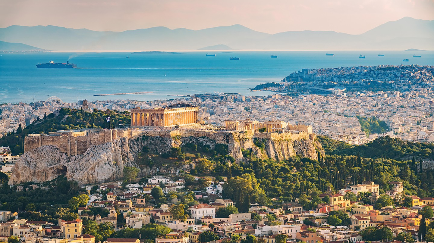 Aerial view on Athens, Greece