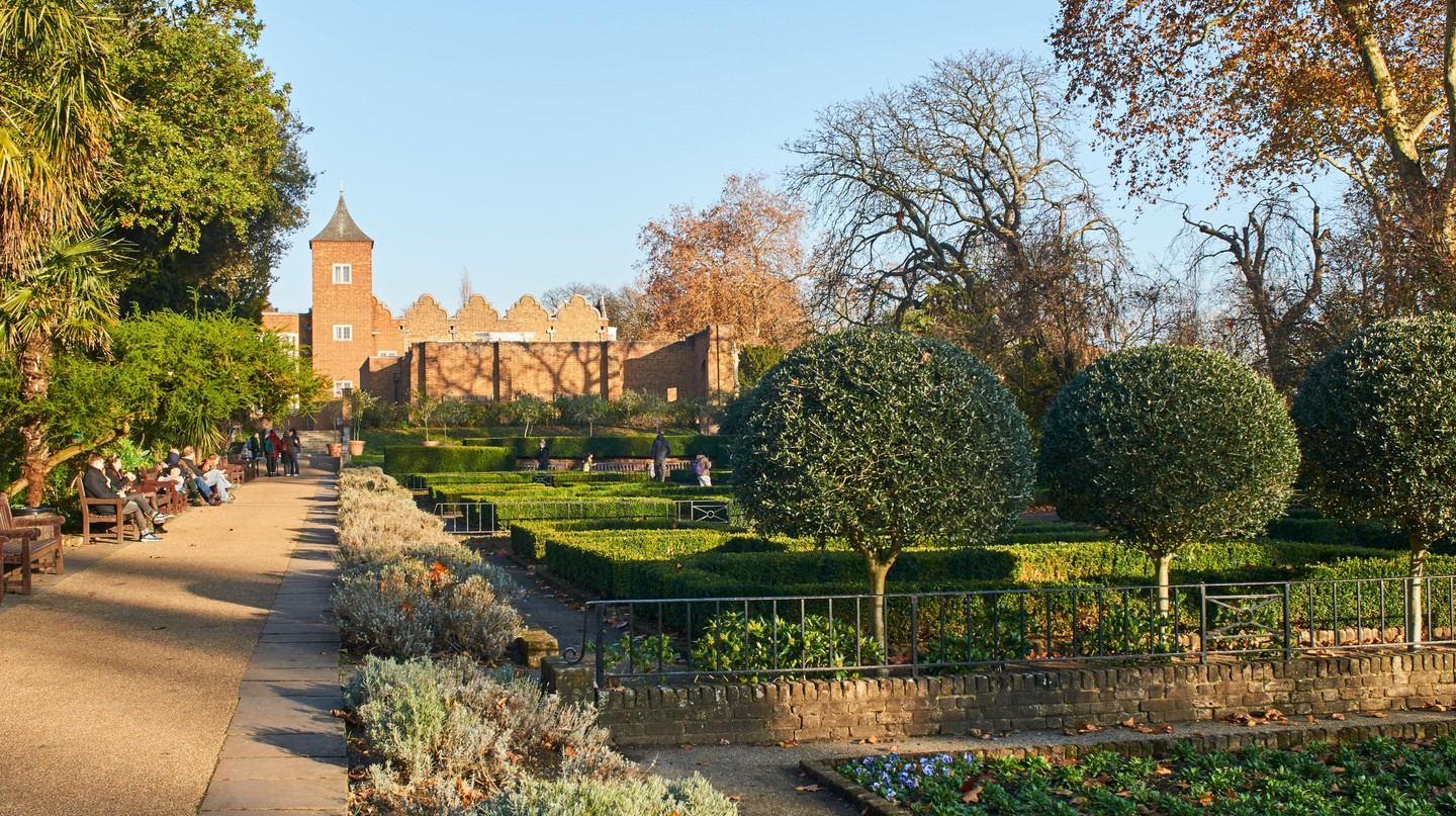 Holland Park is home to a beautifully landscaped Dutch Garden
