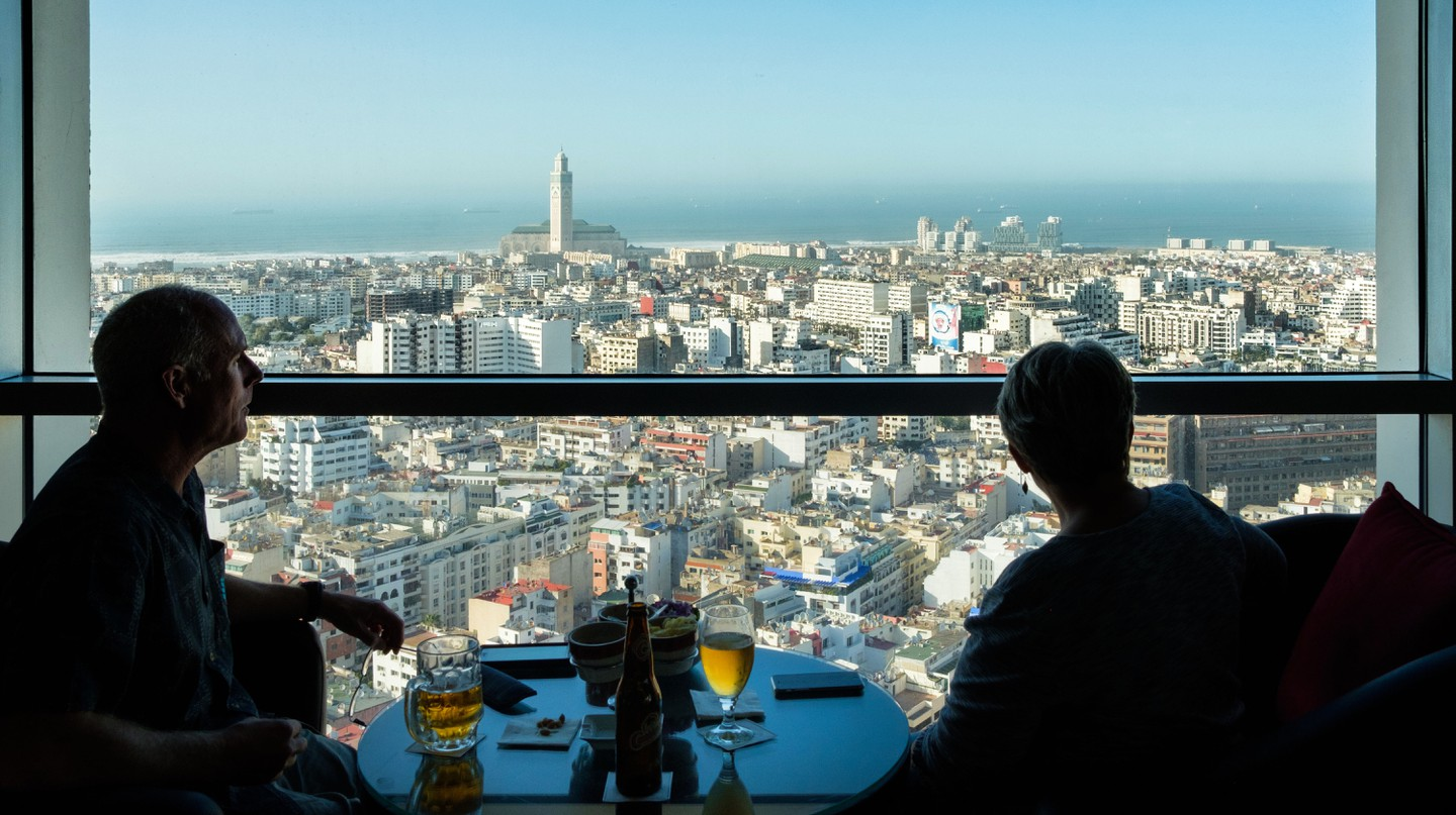 Grab a drink with an incredible view of the city at one of Casablanca's sky-high bars