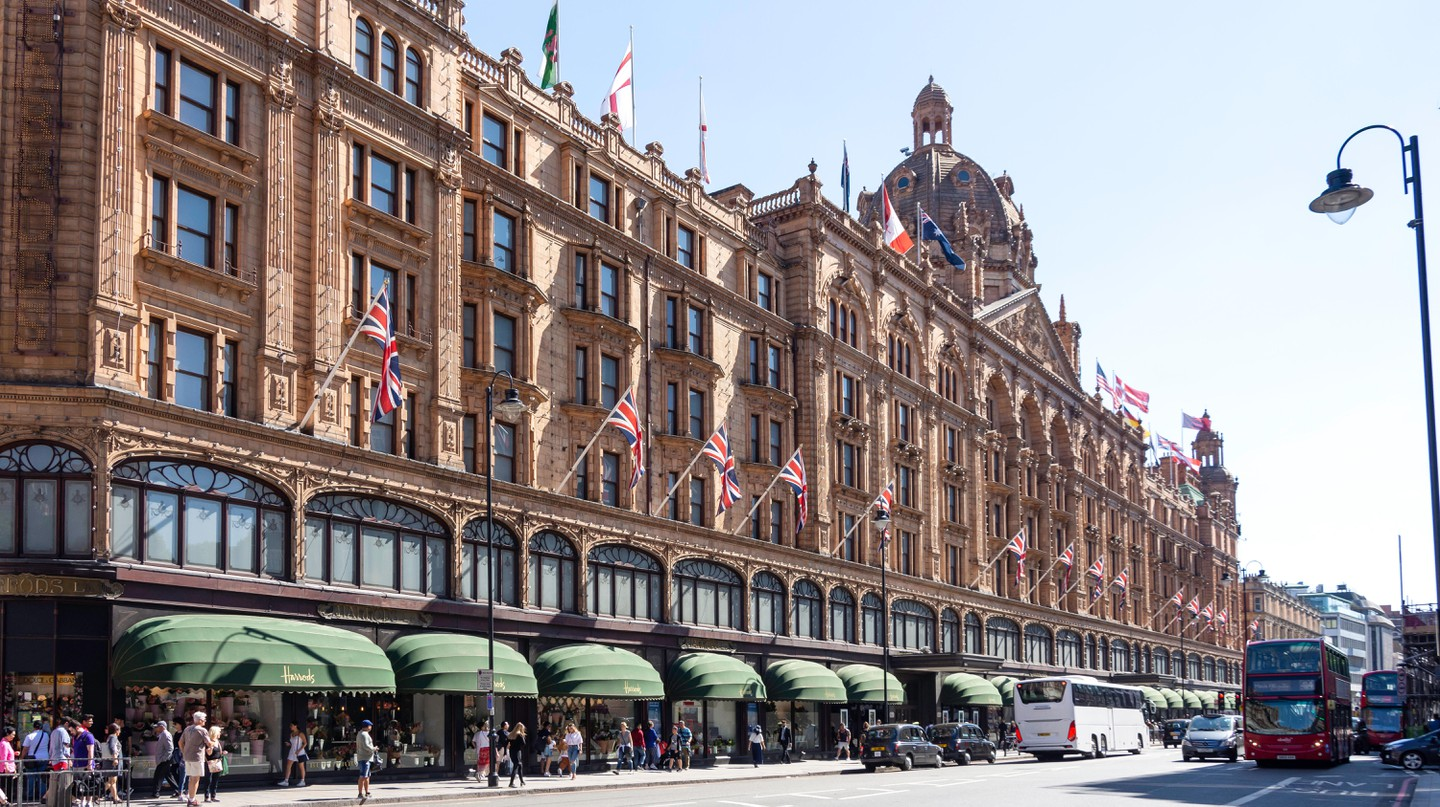 Knightsbridge is home to upscale shops including the world-famous Harrods department store