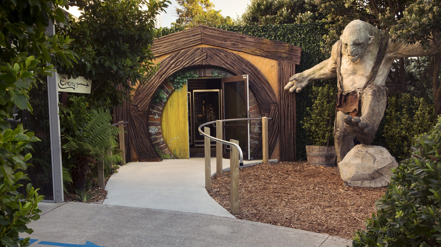 Make your way past the trolls and enter The Shire to discover a world of movie magic in the Weta Cave and Workshop
