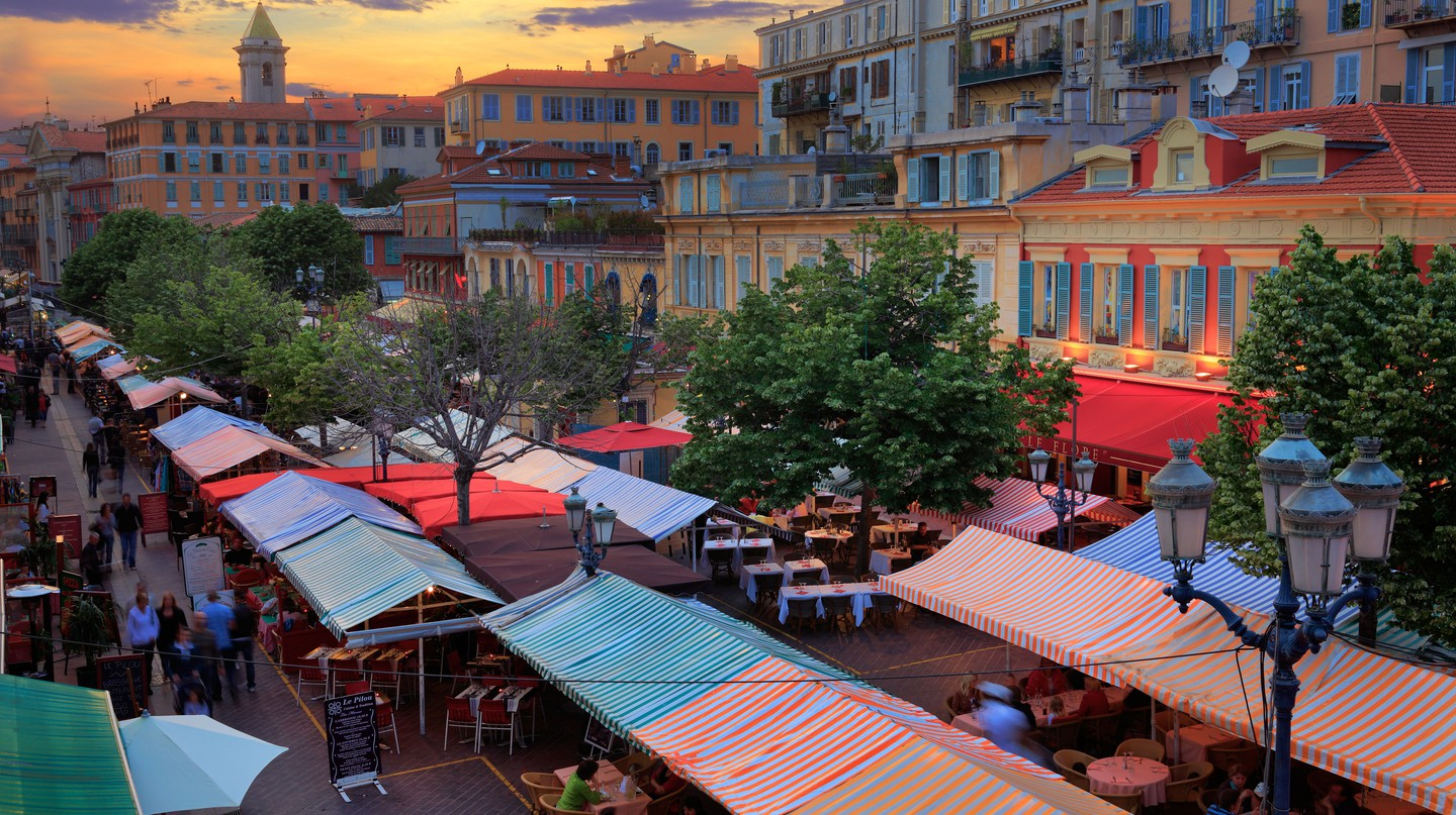 The historic Marché aux Fleurs is a great place to start your shopping experience in Nice