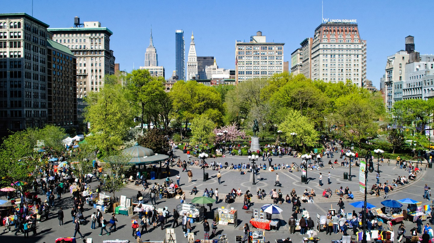 Union Square is a constant hive of activity