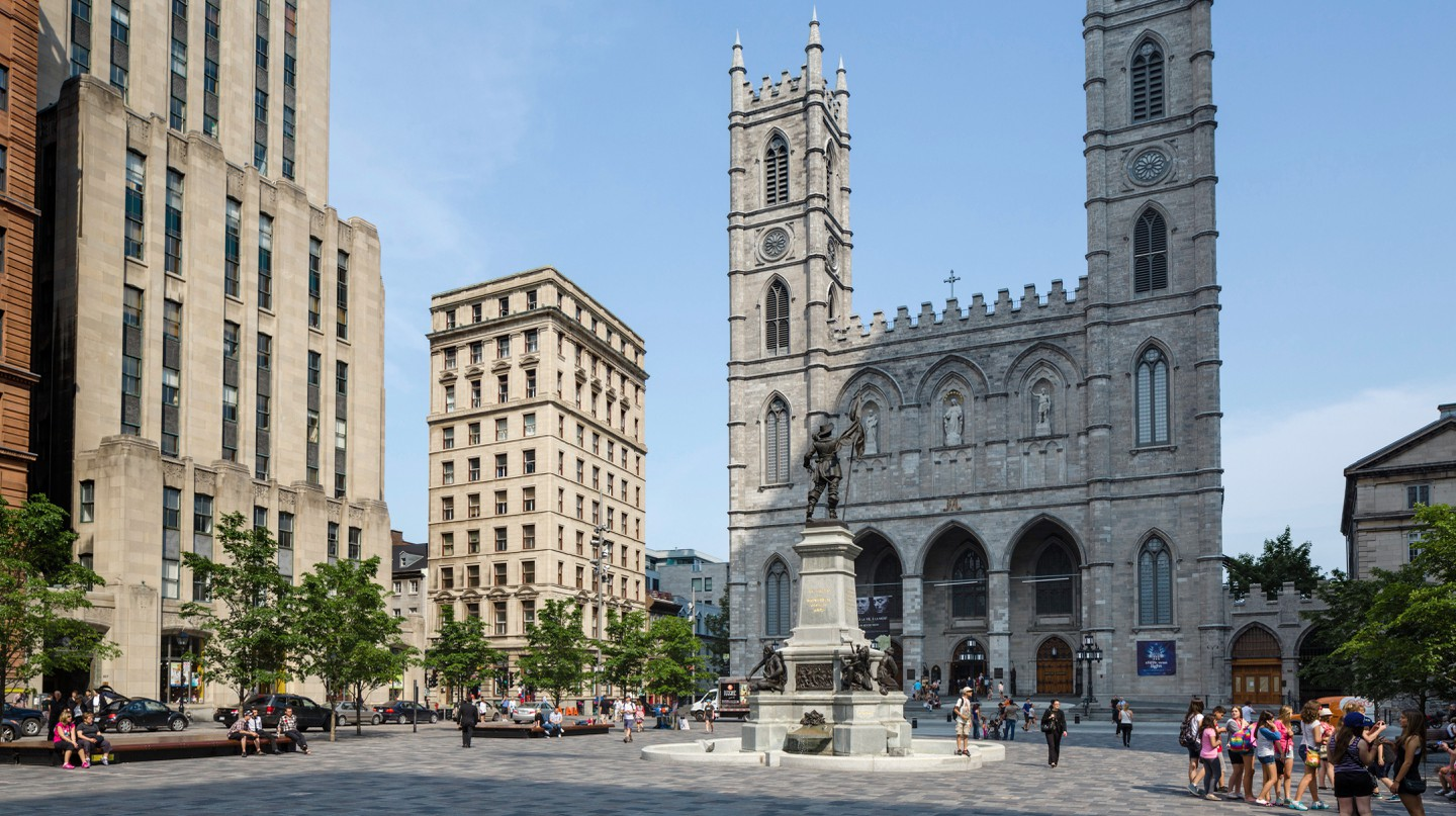 The Basilica of Notre-Dame in the Place d'Armes, Vieux Montreal