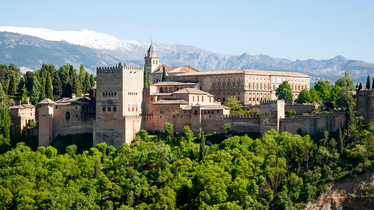 The Alhambra, in Granada, was built by the Moors in the 13th century