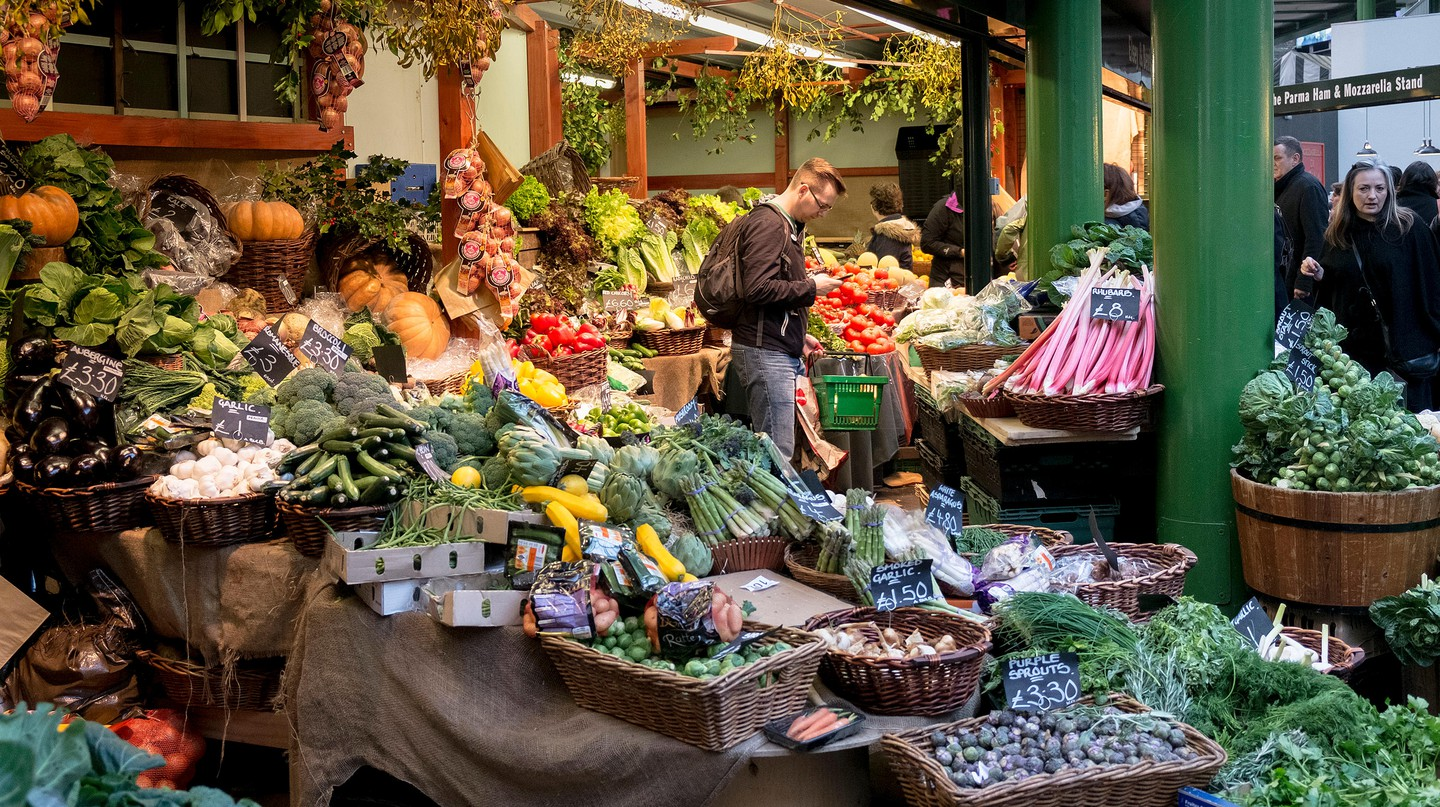 London's Borough Market is renowned for its selection of fresh fruit and veg