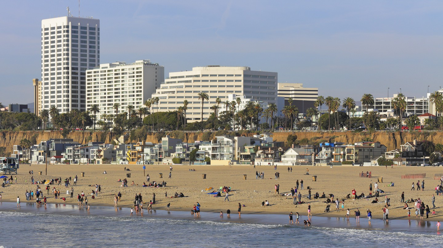 Santa Monica Beach is one of the most popular stretches of sand in Los Angeles