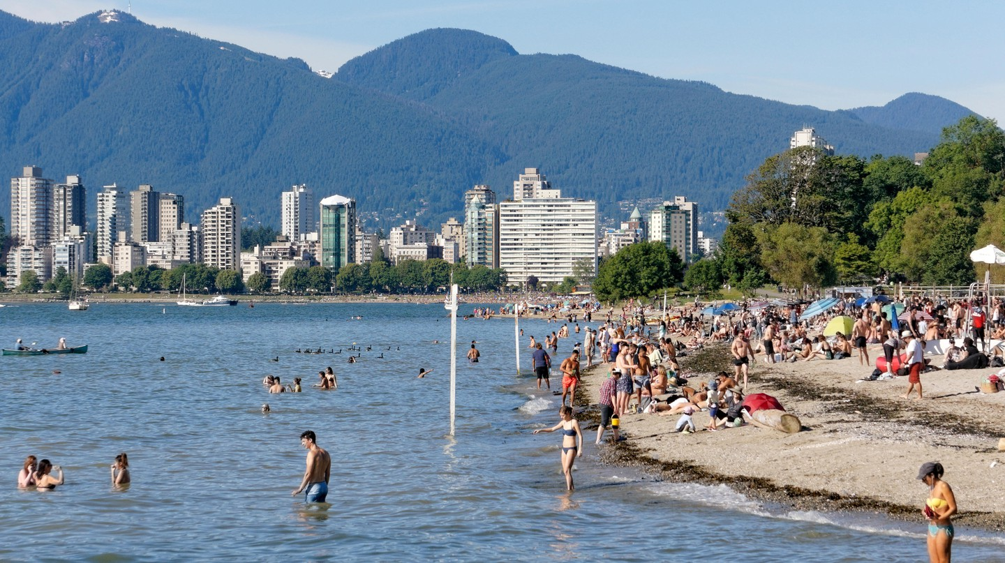 Vancouver's many beaches are popular with residents and visitors alike during the city's brief summer