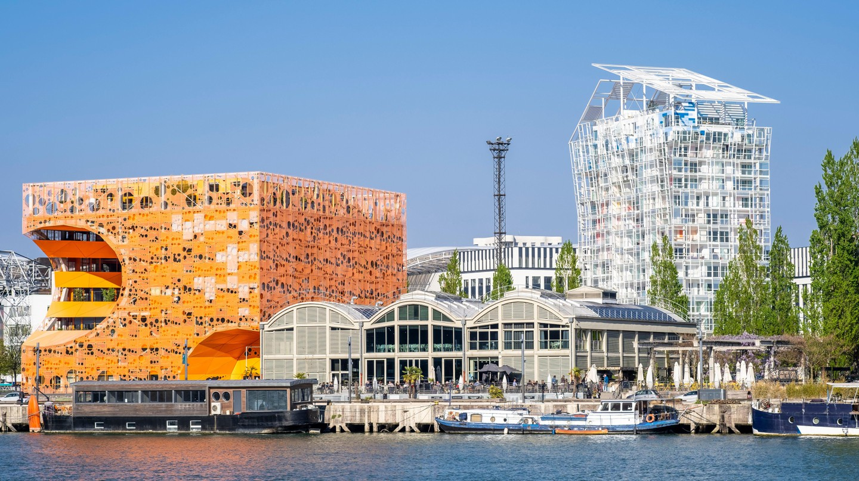 The Orange Cube in Lyon was designed by Jakob + MacFarlane