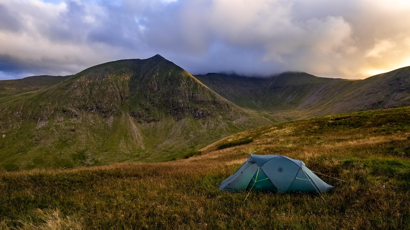 Wild camping on Glenridding Common in the Lake District