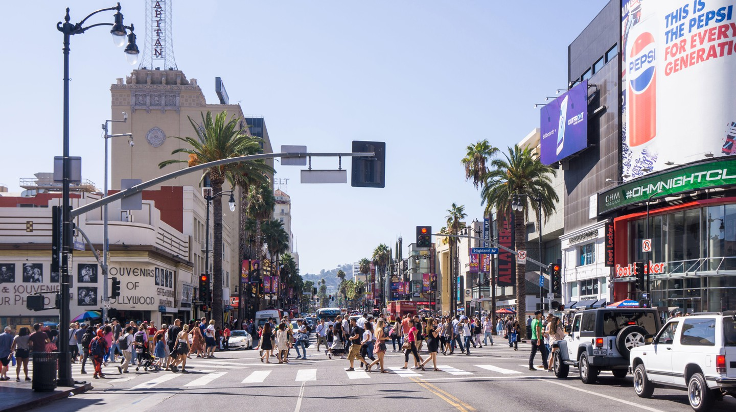 Hollywood Boulevard is lined with landmarks and attractions that celebrate LA's rich film and entertainment industry