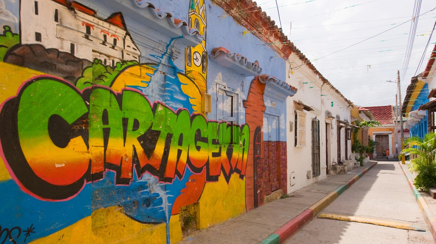 The Getsemani neighborhood in Cartagena has become known for striking street art