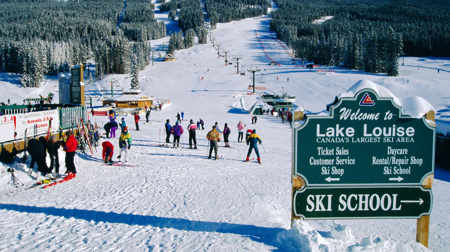 One the delights of the Banff region for little ones is learning to ski