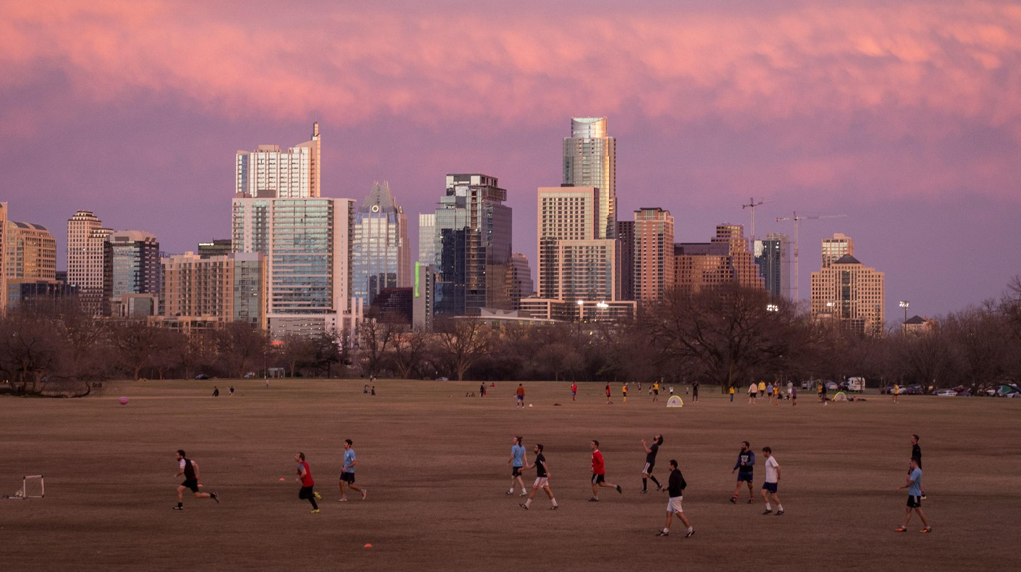 The Zilker Park is perfect for outdoor actives in Austin