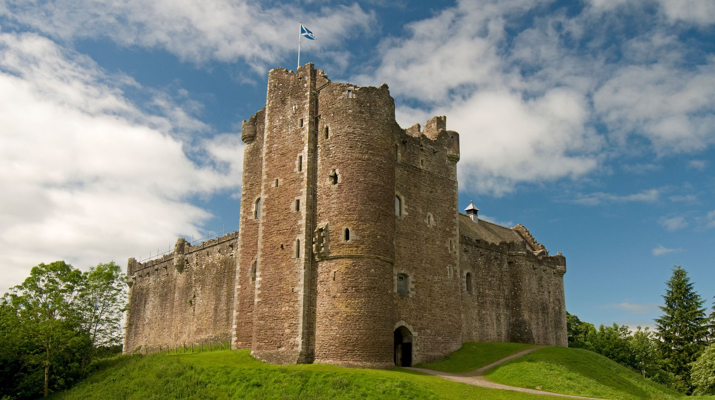 Doune Castle, on the banks of the River Teith Perthshire, Scotland
