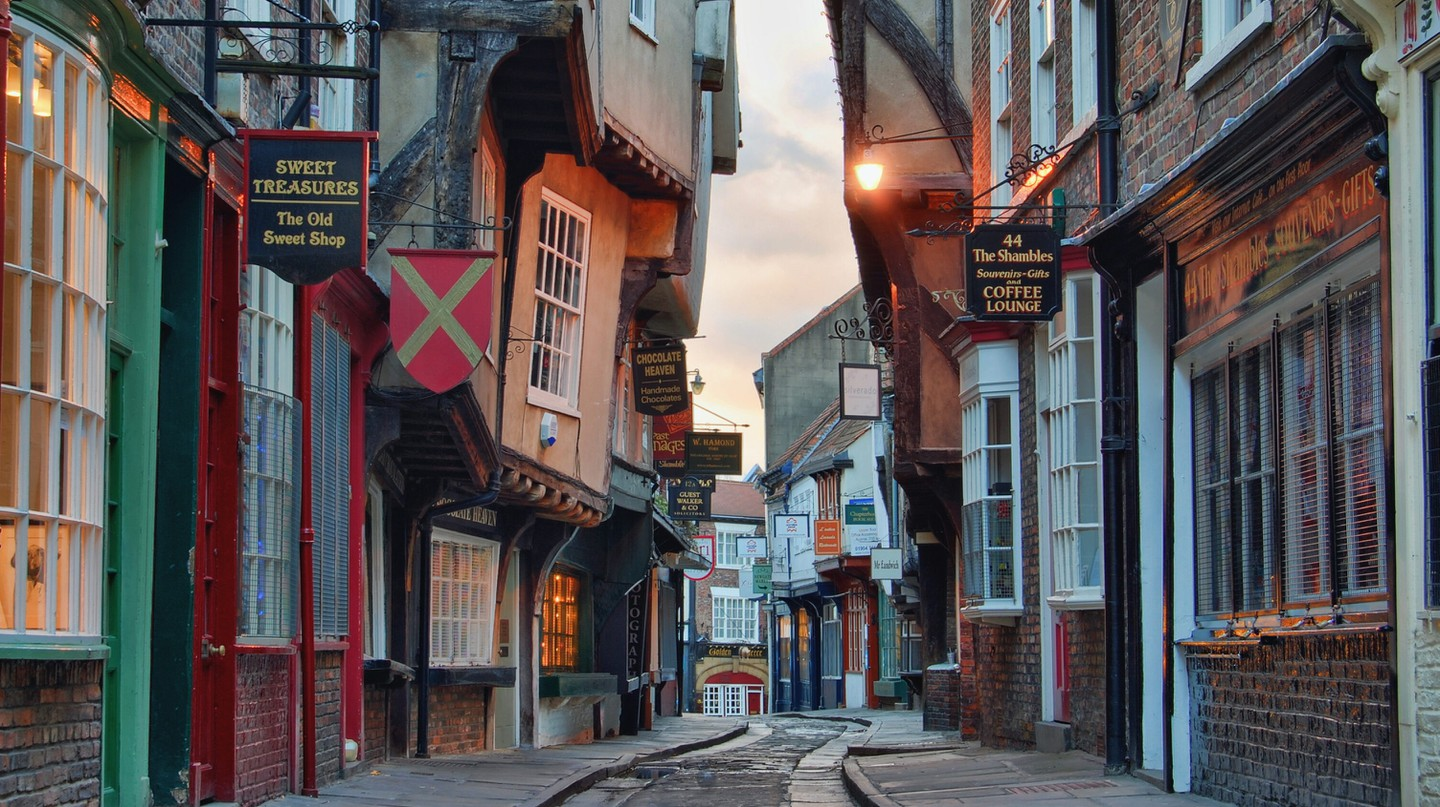 Recently voted as the most picturesque street in Britain, the Shambles is one of York's many highlights