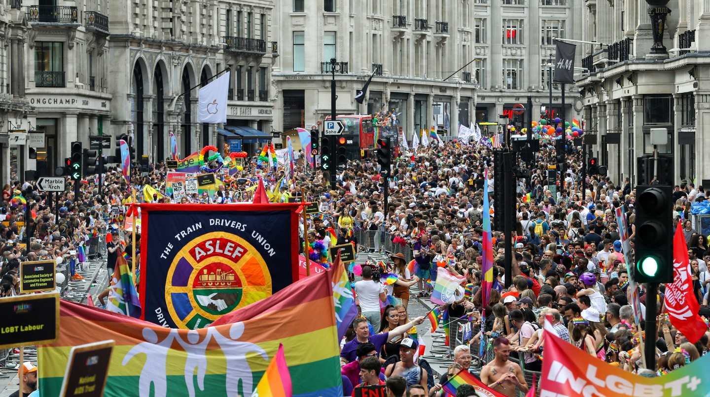 The 2019 parade during Pride in London – it's a colourful event that draws huge crowds, gay and straight