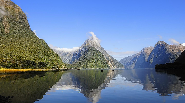 Mitre Peak, Milford Sound, New Zealand.