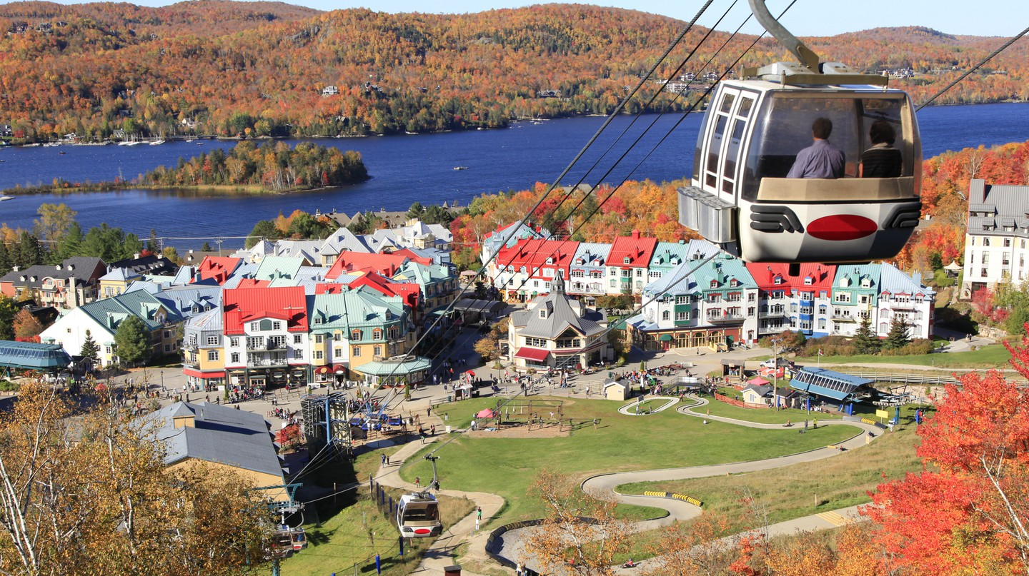 Take a day trip from Montreal and you can see some spectacular sights, including Mont-Tremblant lake and village