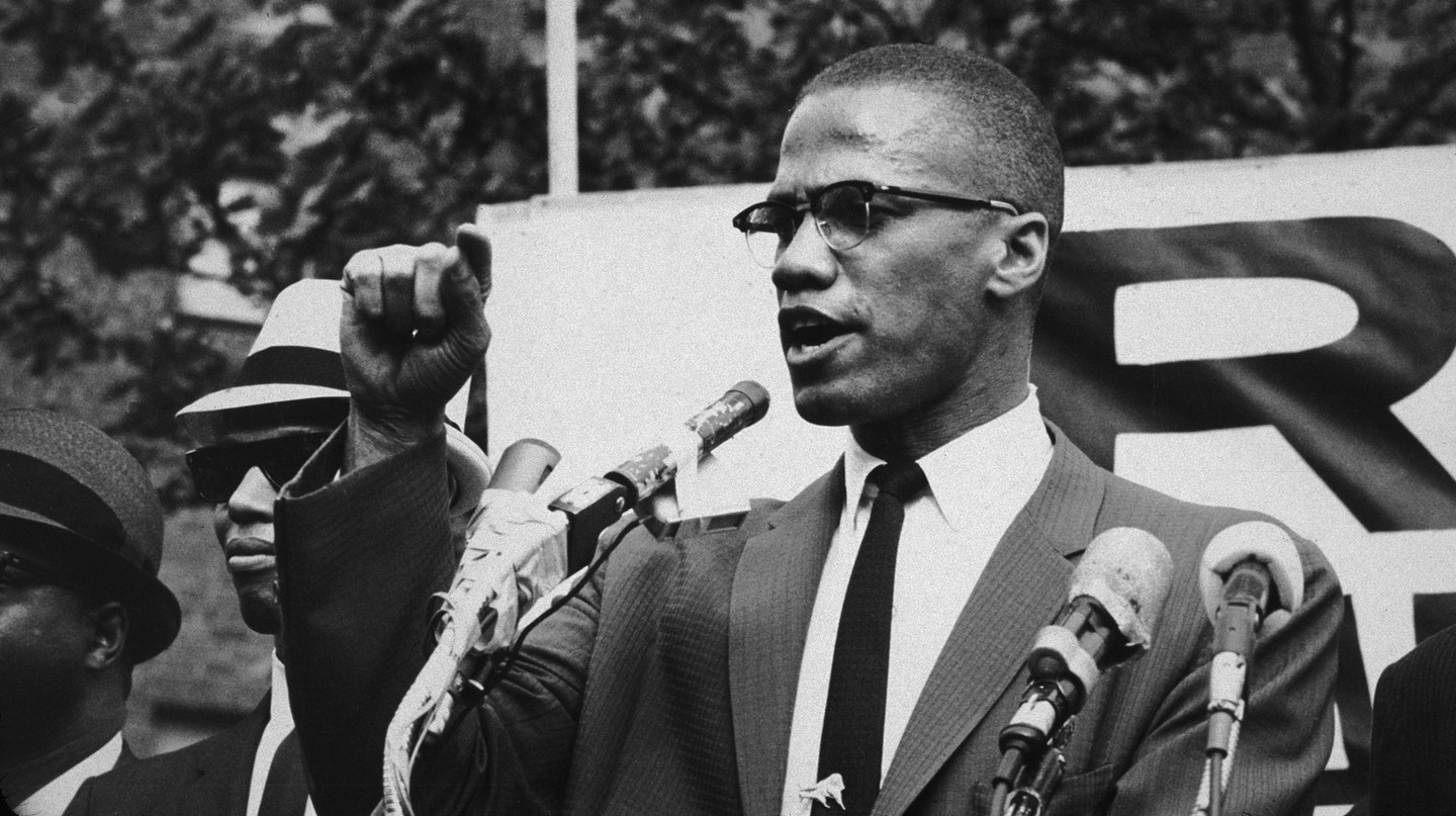 American civil rights leader Malcolm X, circa 1963