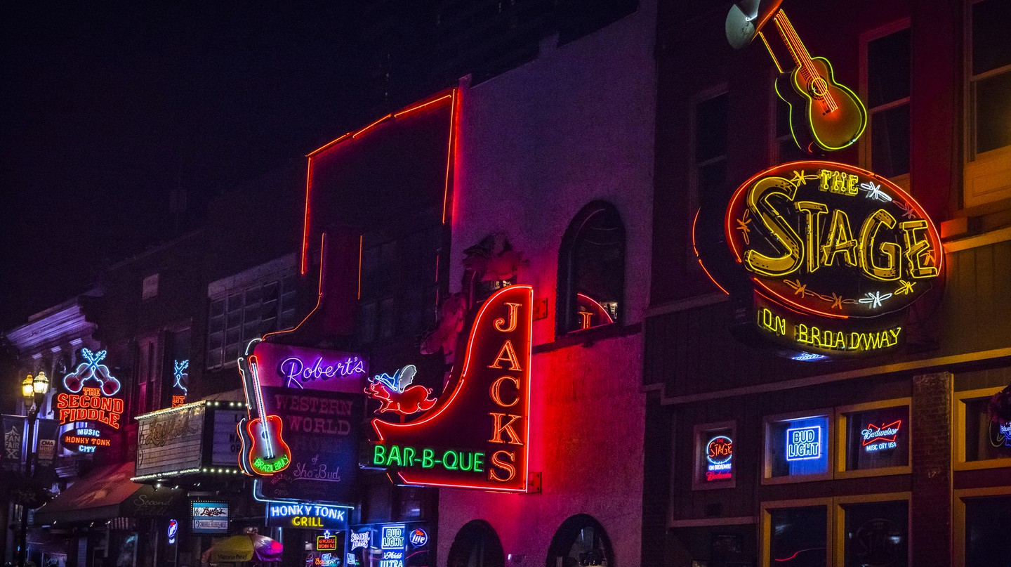 Broadway, in Nashville, is where you'll find great food, craft beers and brilliant live music