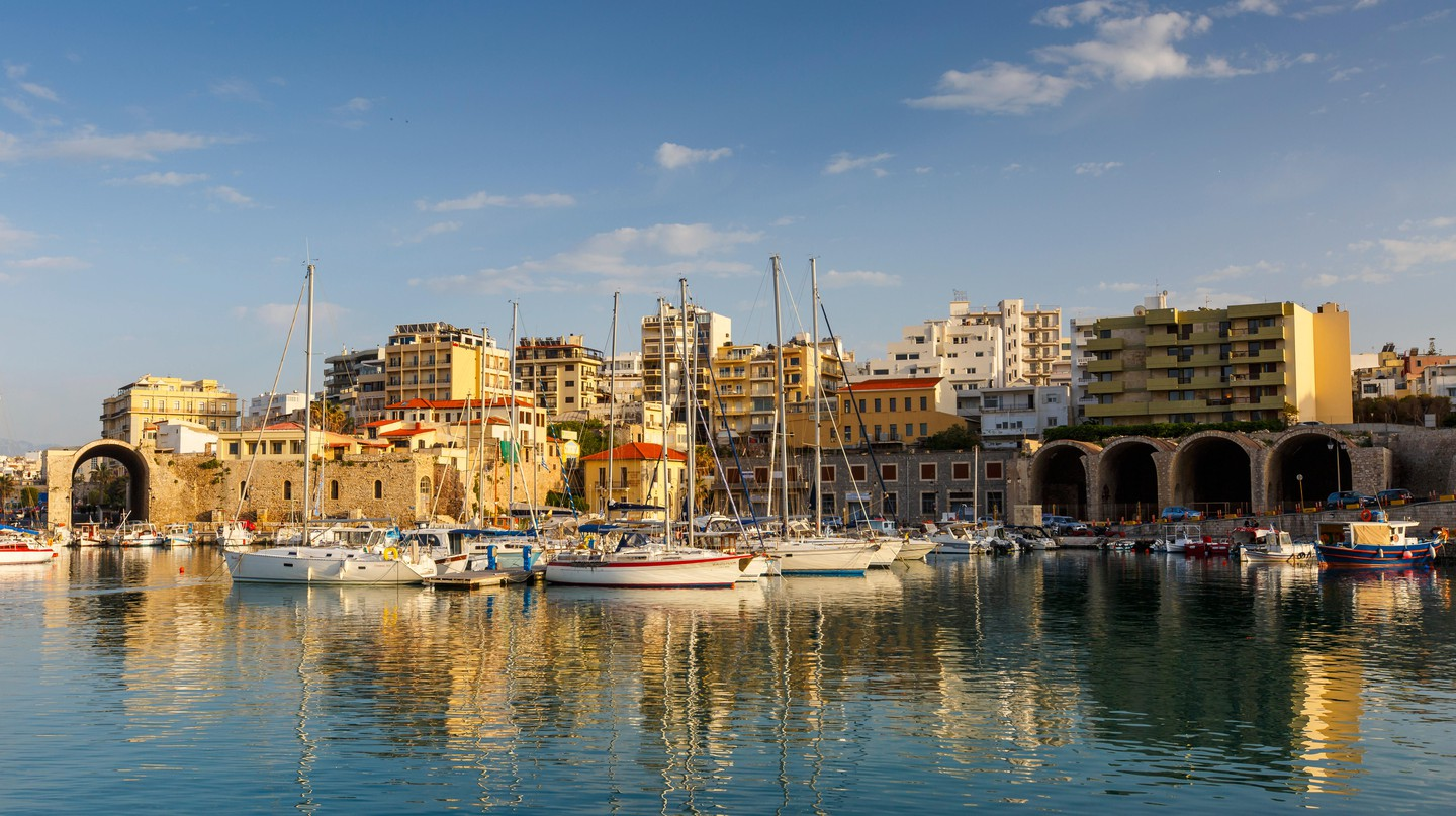 The picturesque town of Heraklion is known for its Cretan cuisine