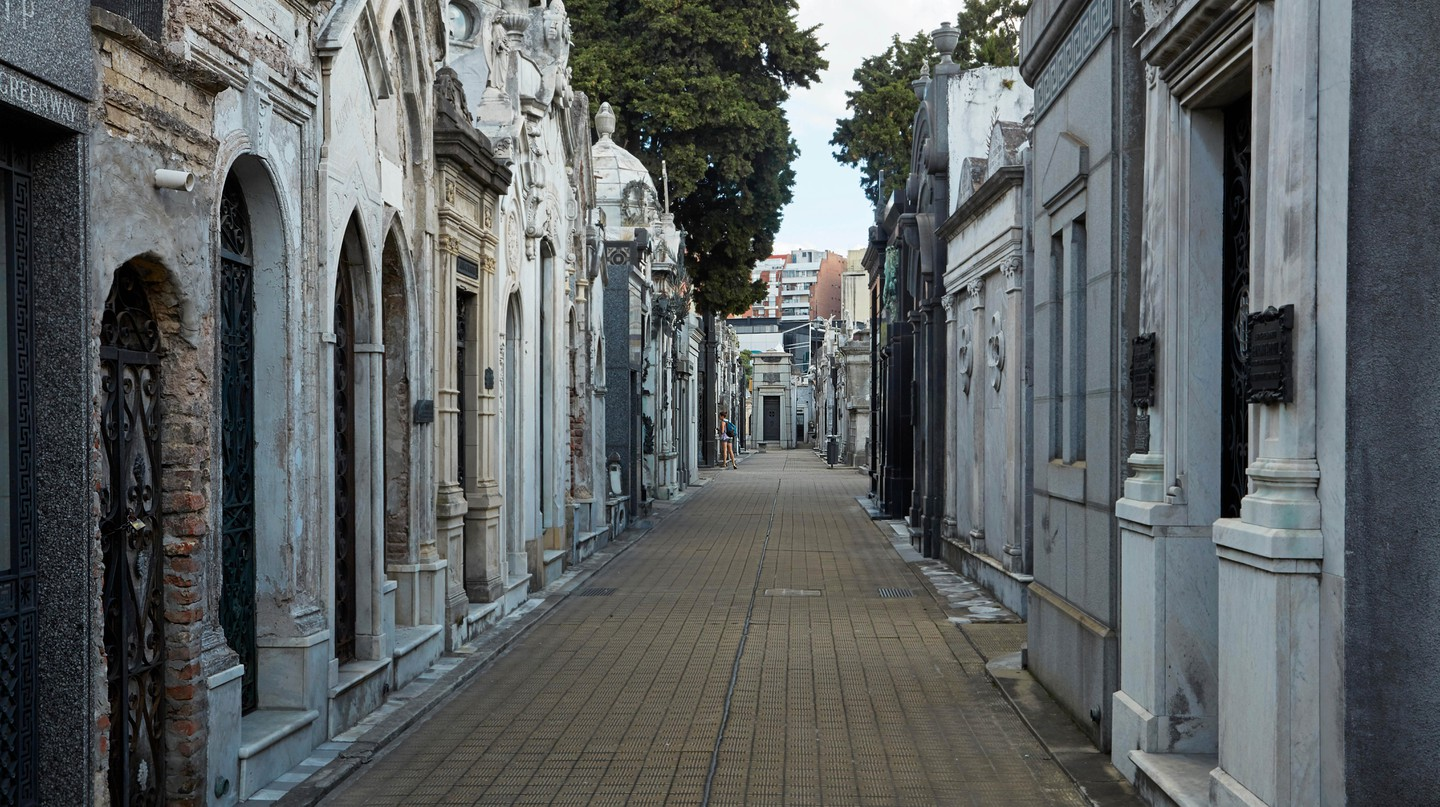 La Recoleta Cemetery in Buenos Aires is one of the world's most-visited cemeteries with its beautiful tombstones and statues