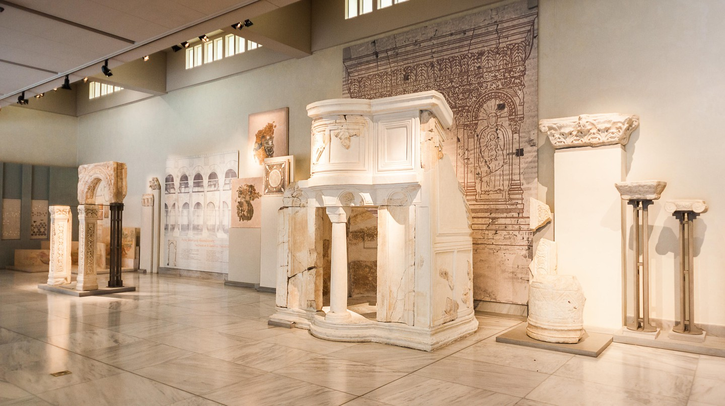 Explore inside the Museum of Byzantine Culture in Thessaloniki