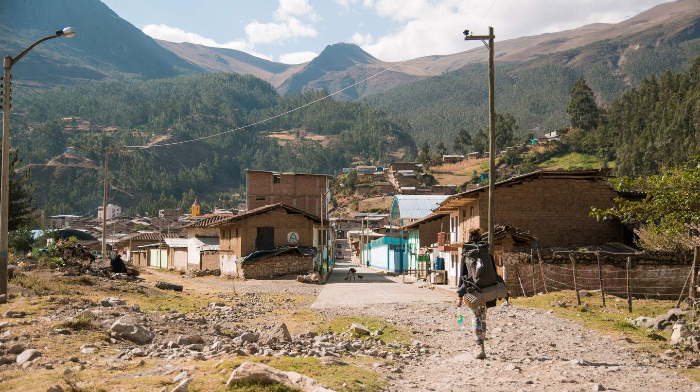 Lucy arriving at Conchucos, in Peru, which sits at an altitude of 3,200m (10,500ft)