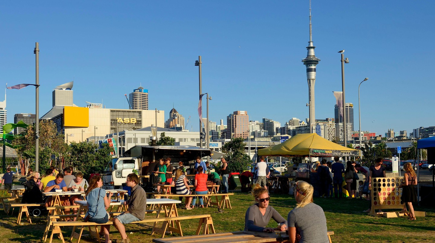 Silo Park is a free public space on the waterfront in Auckland
