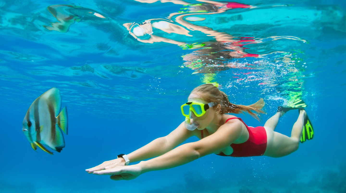 The crystal-clear waters of Jervis Bay are ideal for snorkelling