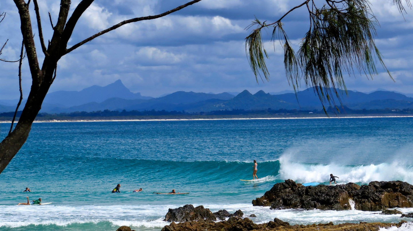 The Pass in Byron Bay is a renowned surf spot in New South Wales
